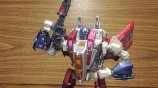 Video Review of the Takara Tomy Transformers Generation Starscream WFC  видео обзор на РусскомRUS