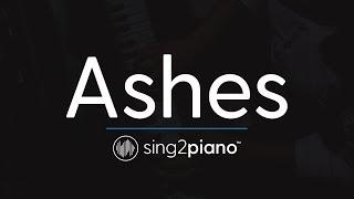 Ashes Piano Karaoke Instrumental Celine Dion Steve Aoki