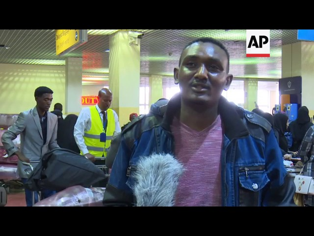 Undocumented Ethiopians return from Saudi Arabia
