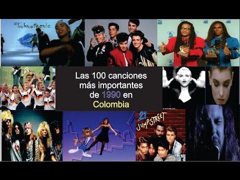 Las 100 mejores canciones de  1990 en Colombia