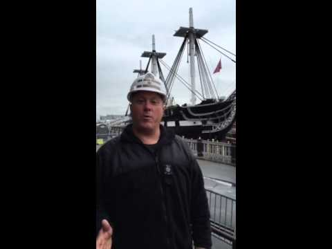 CDR Sean Kearns on USS Constitution's Dry Docking, May 19, 2015