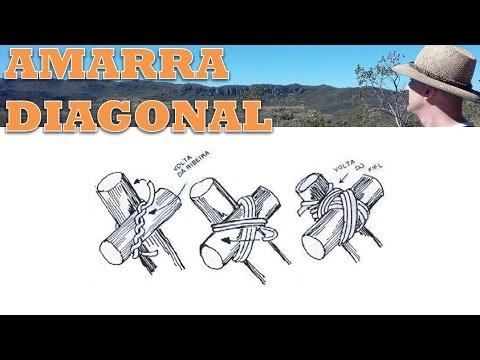 Amarra Diagonal - Guia de Nós e Amarras Tocandira -
