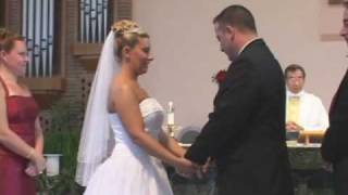 The Bride and Groom can't stop laughing during their own wedding.