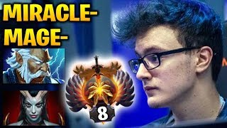Miracle vs MagE- at Middle: Not even CLose Bro [2Games] Dota 2 7.17