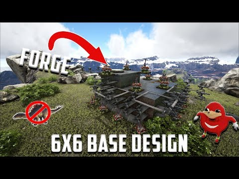 6x6 pvp base design with industrial forge and dino pen med size