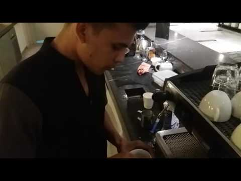 latte art video at le Meriden dhaka. By barista rasel