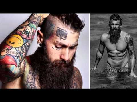 Men with tattoos and beards