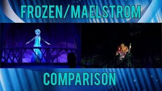 Frozen/Maelstrom Side by Side Comparison at Epcot