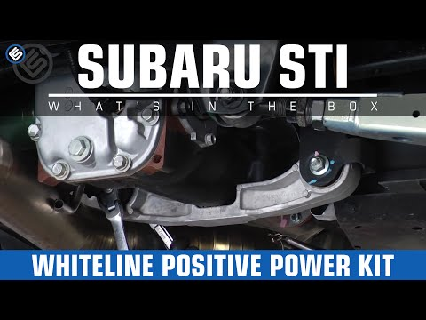 Whiteline Rear Diff Positive Power Kit Inserts -2011 Subaru STI Review/Install/Before-After