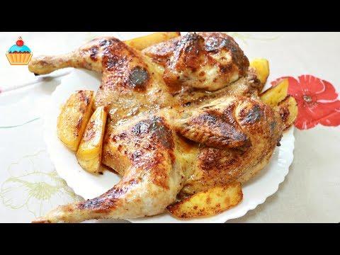 Как запечь цыпленка - видео
