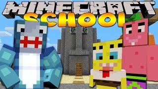 Minecraft School - VISITING SPONGEBOB'S FRIENDS IN BIKINI BOTTOM!