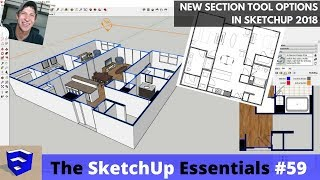 New Section Features in SketchUp 2018 - Section Fills, Lineweights, Labels, and More!