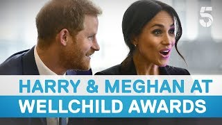 Prince Harry and Meghan Markle meet inspirational Wellchild Award winners | 5 News