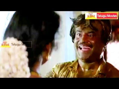 Rowdy Jamindar Telugu Movie Scene - Rajikanth, Meena video