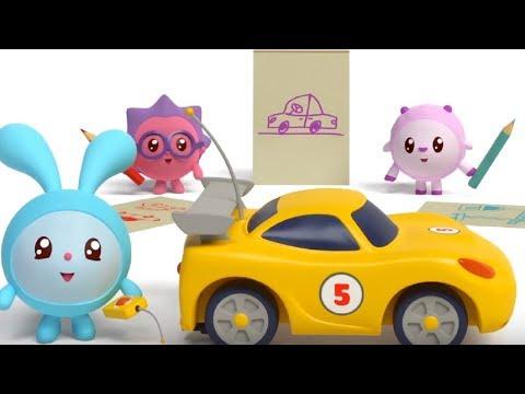Малышарики - Подъемный кран - серия 86 - обучающие мультфильмы для малышей 0-4 - про машинки