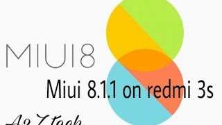 Manually update redmi 3s/3s prime to miui 8.1.1.0 [Hindi] 😃