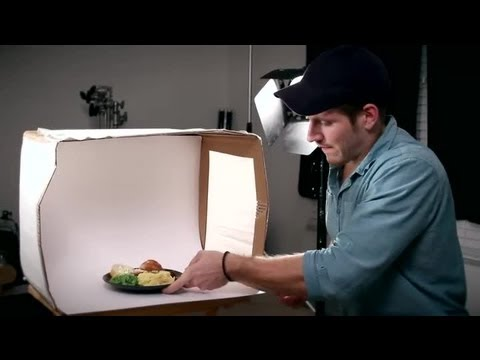 How to make a lightbox to photograph food tips for for How to light a house