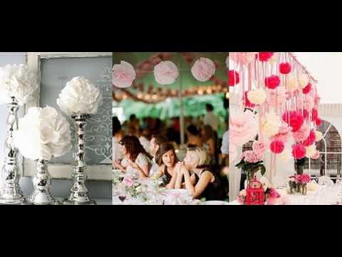 Как сделать свадебные украшения из бумаги