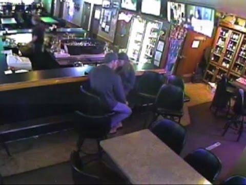 Raw: Couple Kisses Through Montana Bar Robbery