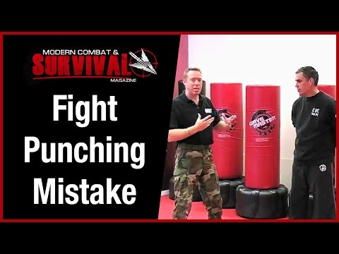 Fight Training - Street Fight Punching Mistake Image 1