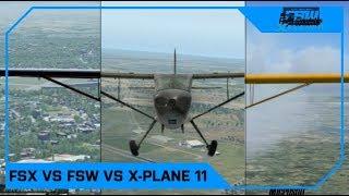 Flight Sim World vs X-Plane 11 vs FSX:SE (Vanilla, No mods!)