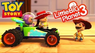 LittleBigPlanet 3 - Toy Story 4 Player RC Car Race - PS4 Gameplay