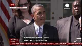Obama on US govt shutdown over Obamacare (recorded live feed)