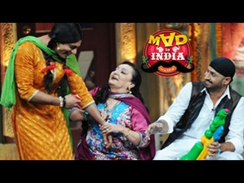Chutki Proposes Marriage To Ace Bowler Harbhajan Singh On Mad In India 16th March 2014 Full Episode video