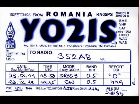 500kHz / S52AB - YO2IS QRSS3-CW QSO/September 23.2011