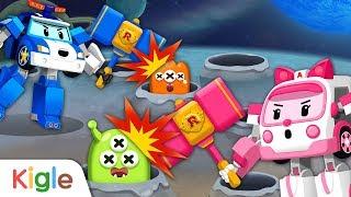 폴리 외계인 잡기!   망치로 외계인들과 결투!   폴리 영어놀이 07   로보카폴리   키글TV