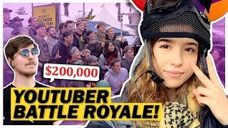 Poki Competes in Mr Beast's $200,000 YouTuber Battle Royale!