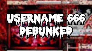 Username 666 Debunked
