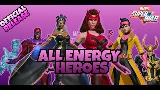 MARVEL SUPER WAR MOBA - ALL MAGE/ENERGY HEROES (OFFICIAL RELEASE)
