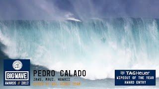 Pedro Calado at Jaws - 2017 TAG Heuer WIpeout of the Year Entry - WSL Big Wave Awards