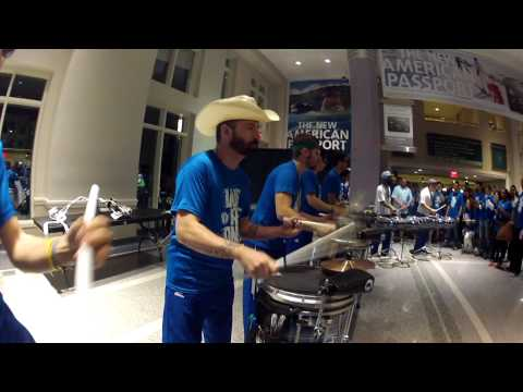 Dallas Mavericks Drumline - Playoffs Victory Jam Session - April 26, 2015
