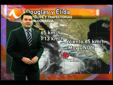 1 julio 2014 Pronóstico del tiempo Monterrey, tormentas tropicales Douglas y Elida TVNL