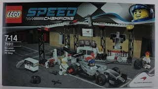 75911 LEGO® Speed Champions Set McLaren Mercedes Pit Stop Unboxing 4K by Brickmanuals