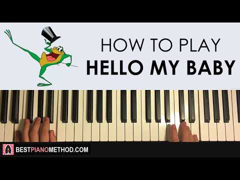 HOW TO PLAY - Michigan J. Frog - Hello My Baby (Piano Tutorial Lesson)