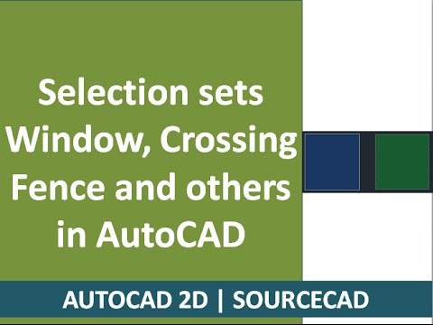 Autocad Fence Selection Autocad Selection Sets Window