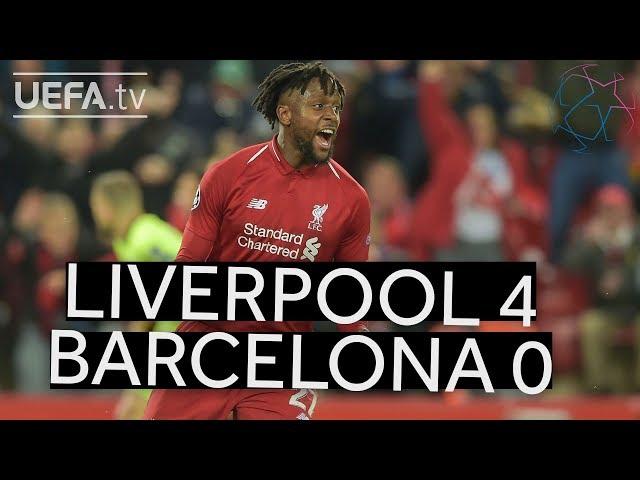 LIVERPOOL 4-0 BARCELONA UCL HIGHLIGHTS