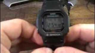 DW5600E-1V Classic Black Square - Casio G-Shock Watch Review