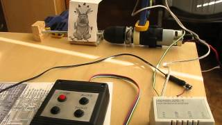 Motor system controlled by microcontroller