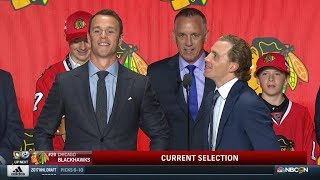 Jonathan Toews and Patrick Kane Make Blackhawks Pick | NHL Draft 2017 | (HD)