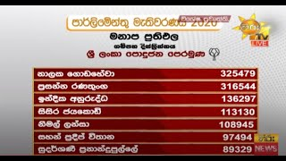 Parliamentary Election 2020 - Preferential Results - Gampaha District - Hiru News