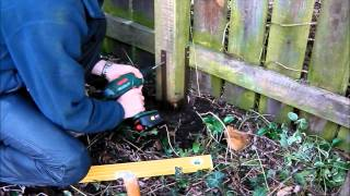 Fence post repair - how to fix broken, leaning fence posts - quick and easy with Post Buddy