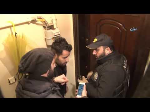 Narkotik Polisleri Eve İtfaiye Merdiveniyle Girdi