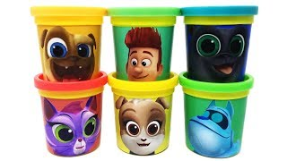 Puppy Dog Pals Play-Doh Surprise Toys Bob Rolly Hissy Bingo A.R.F. Keia Learn Colors