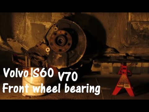 Volvo S60 V70 and XC70 wheel bearing (hub) removal