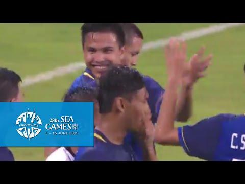 Football full match highlights Thailand vs Brunei (Bishan stadium)   28th SEA Games Singapore 2015
