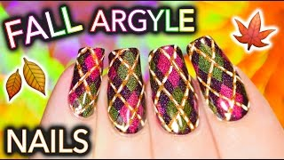 Classic Betch Argyle Nails for Fall